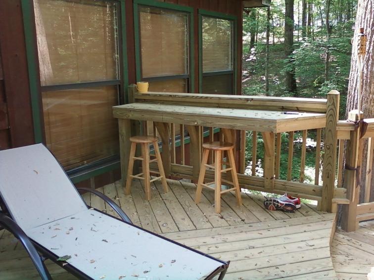 built in deck bar