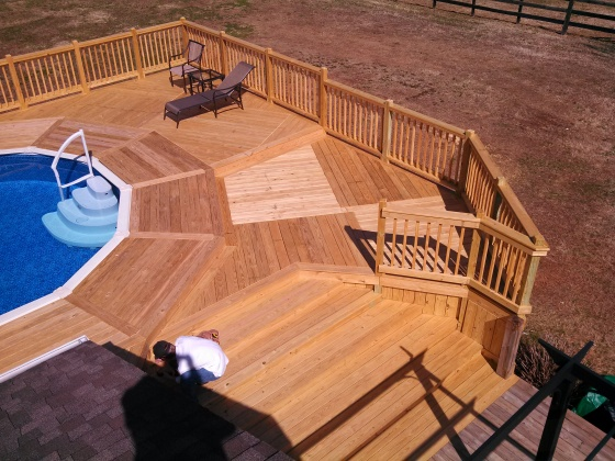 a beautiful view of all the decking patterns