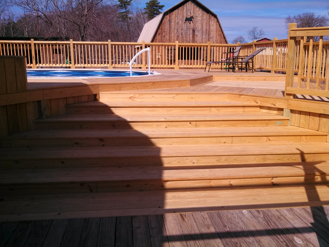 unique deck steps