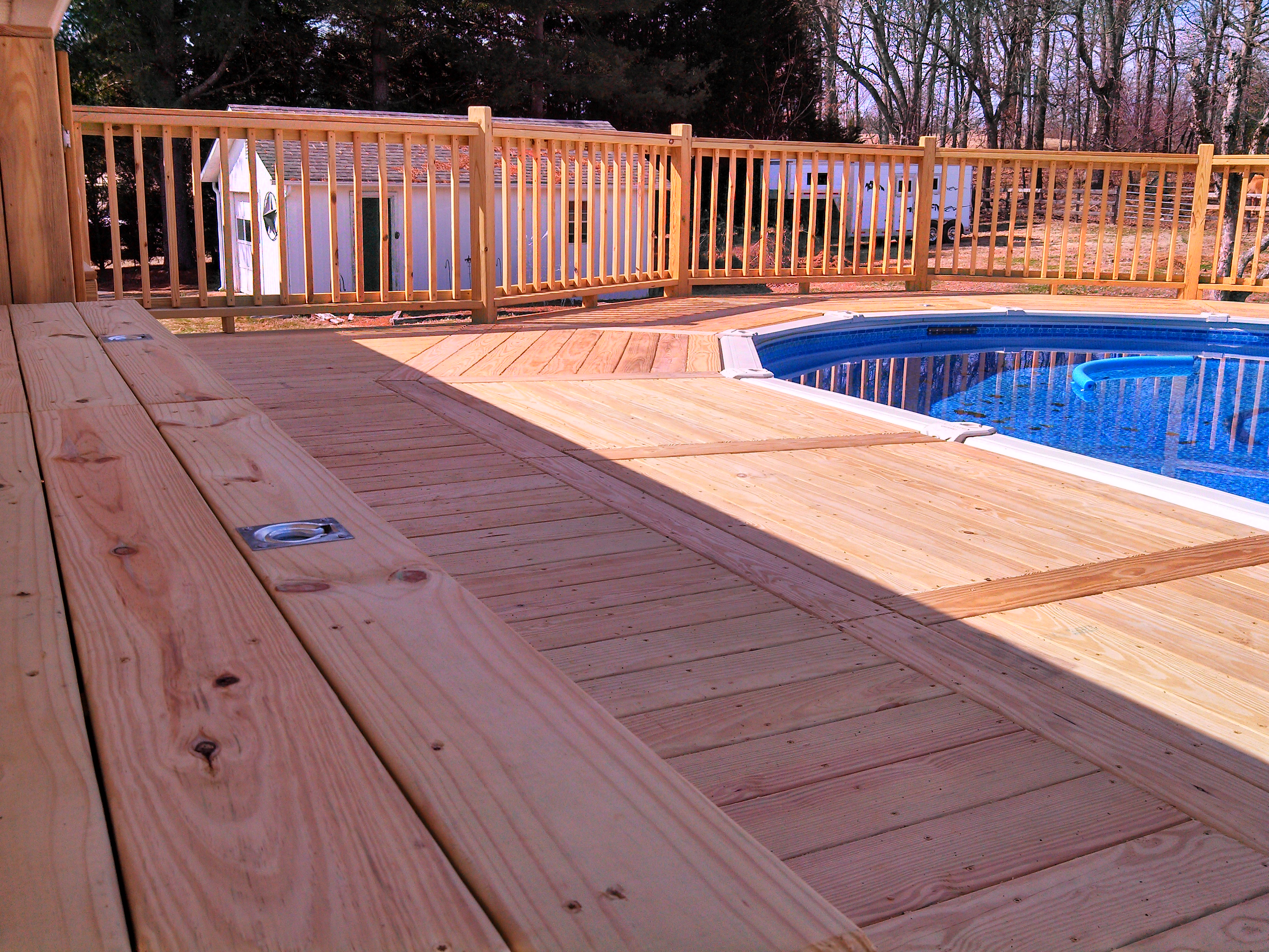 deck patterns and benches