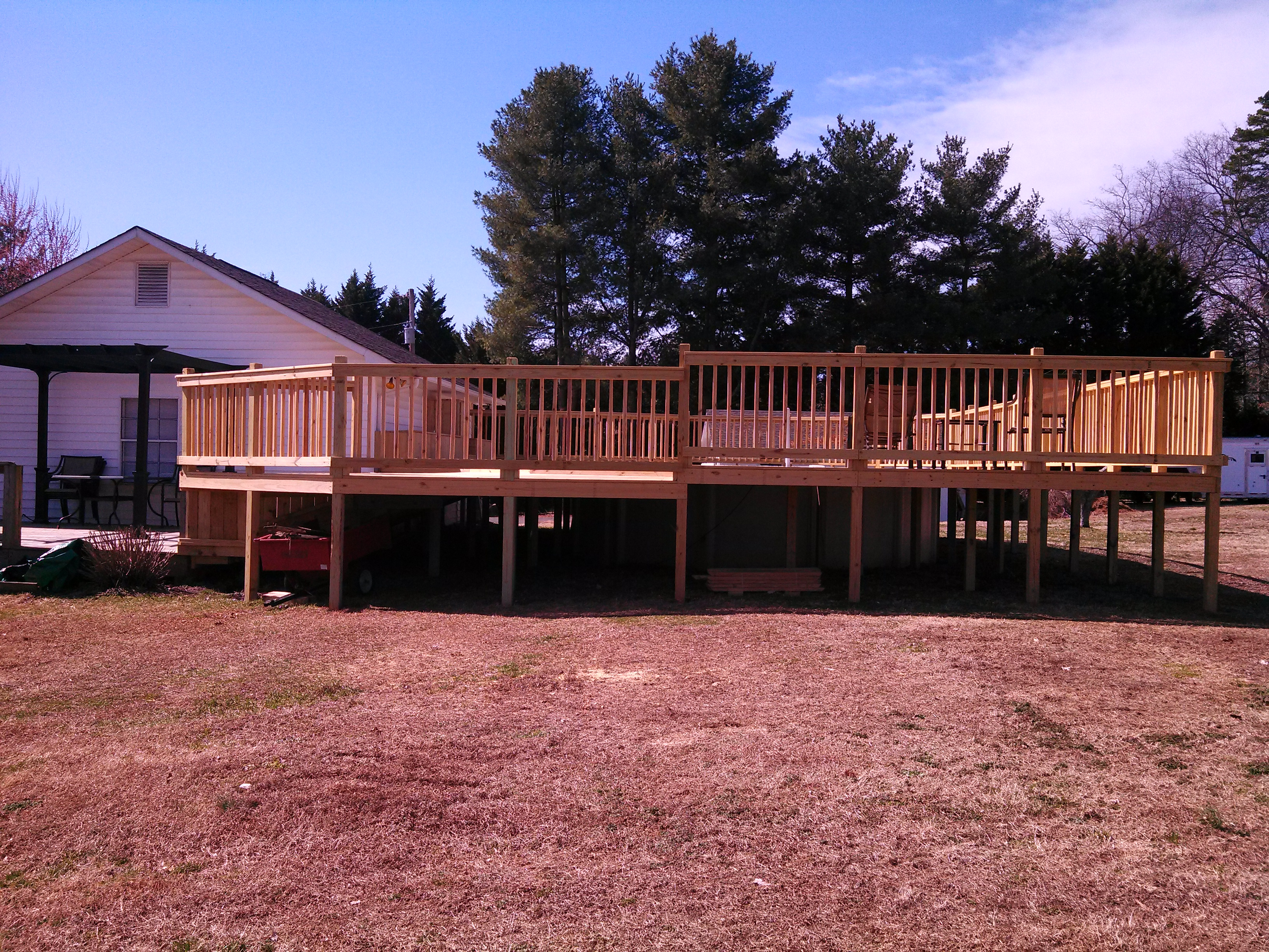 side view of the deck