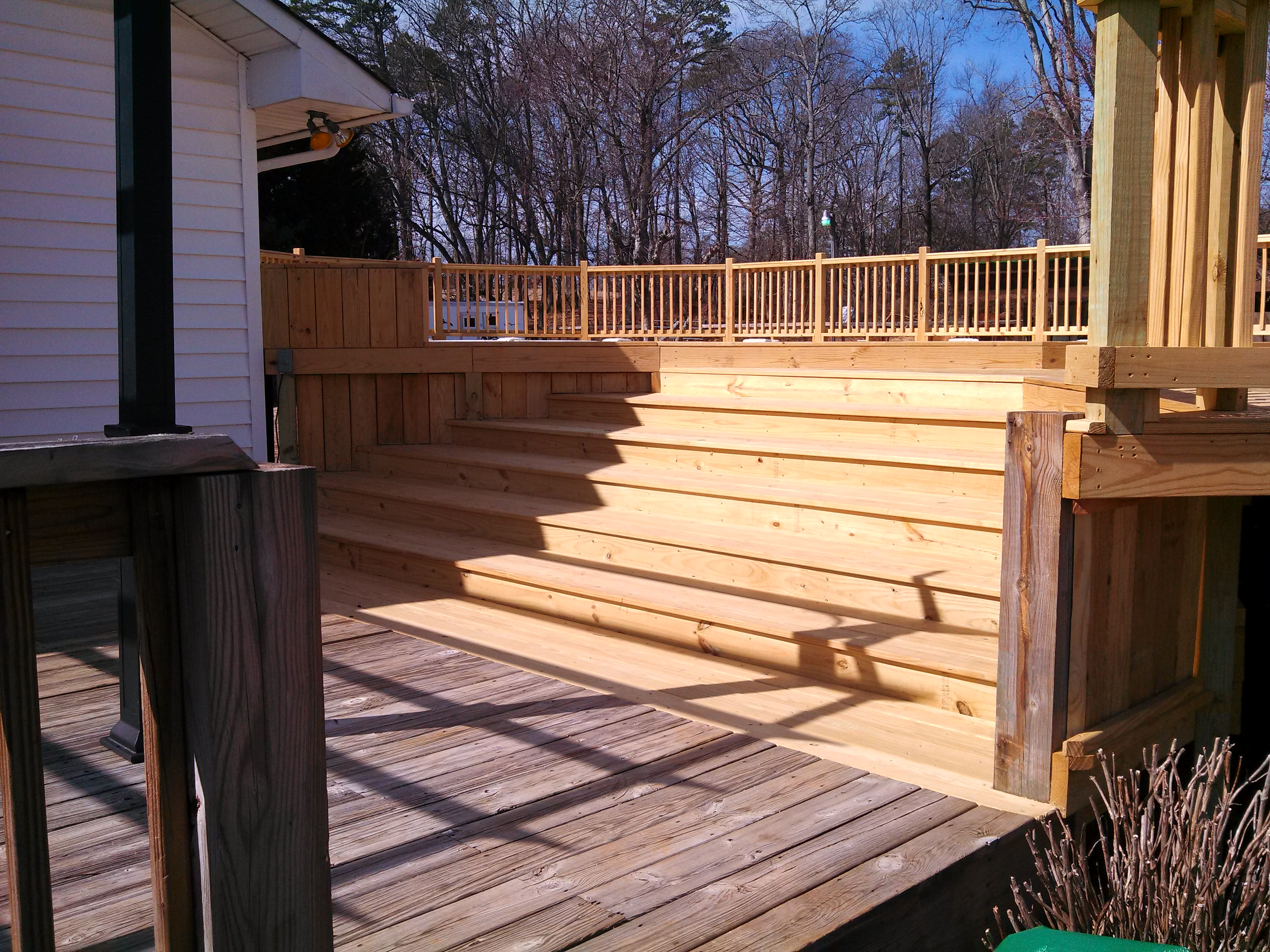 another view of the decks steps