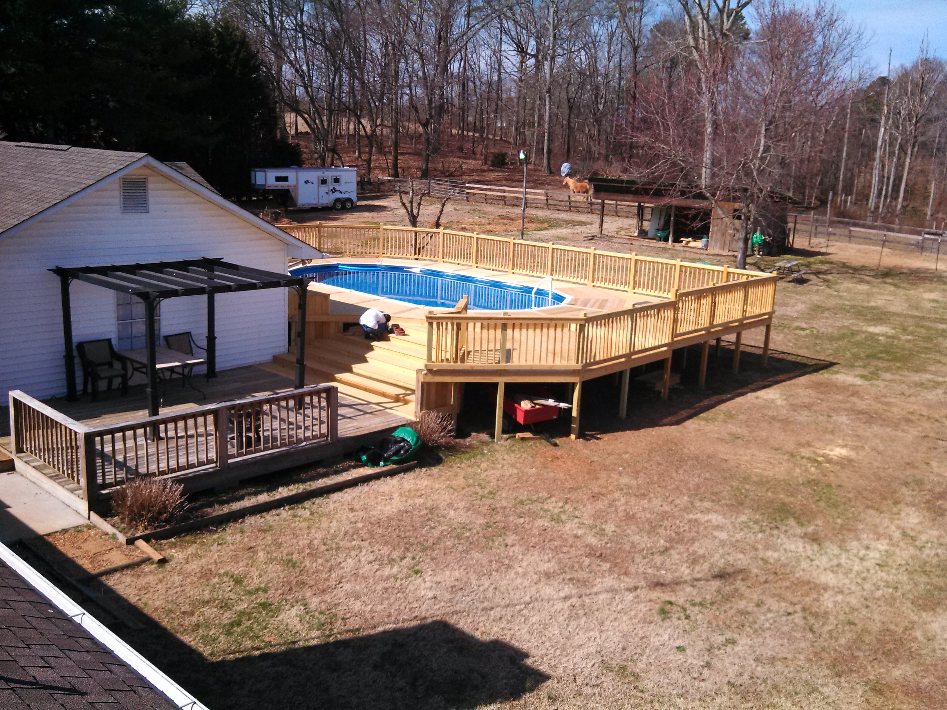 a picture of the whole deck finished