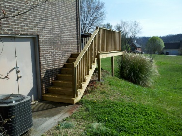 four of four sets of steps on the deck