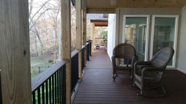 trex aluminum hand railing