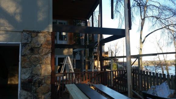 installing metal joist deck frame