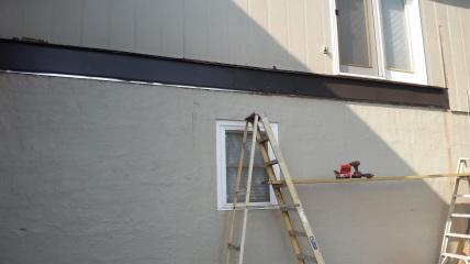 installing steel track ledger