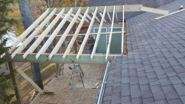 porch roof rafters