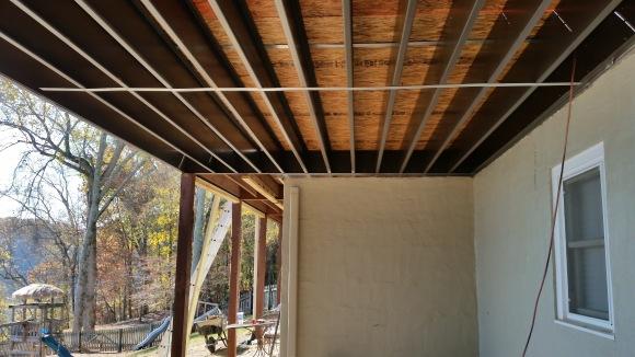 steel joist framing under side