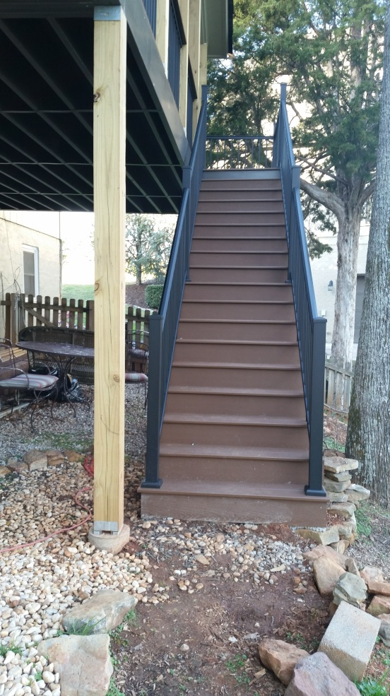 steps with trex decking