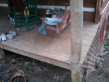 before picture of the front porch