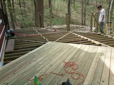 octagon deck area