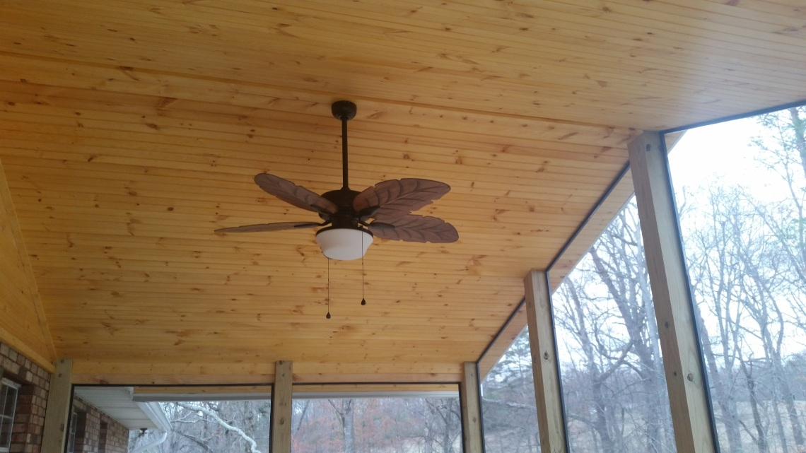 tongue and groove screen porch ceiling