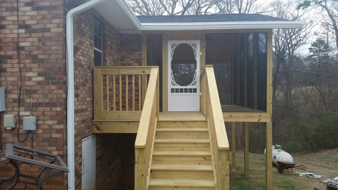deck steps finished