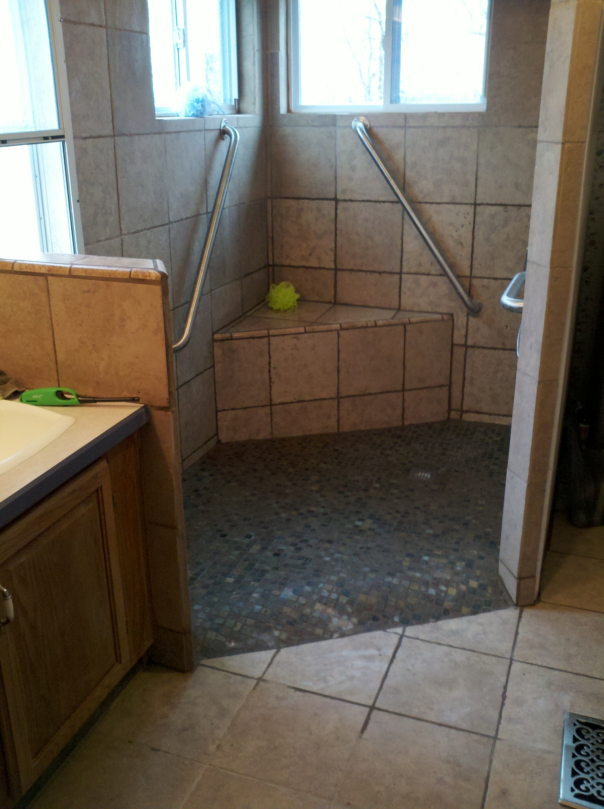 tile shower after