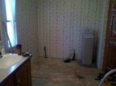 tile shower before