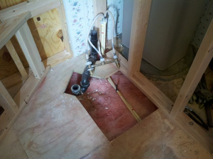 tile shower plumbing