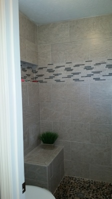 tile shower wall