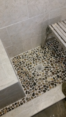 tile shower floor