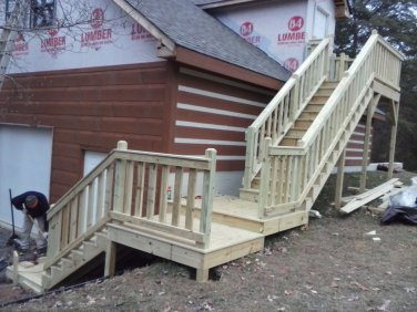 double set of stairs